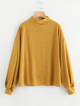 drop shoulder mustard