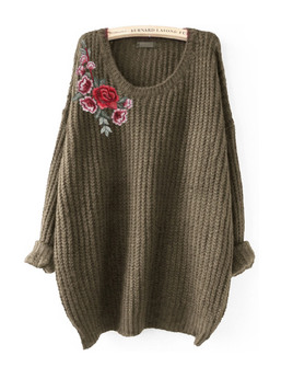 embroided jumper