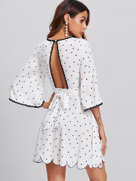 polk dot dress